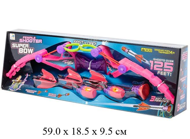 Лук с объемными  стрелами липучк. в кор.AX1020B
