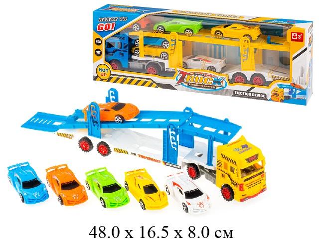 Трейлер фрикц +6 машин в кор.A109-1