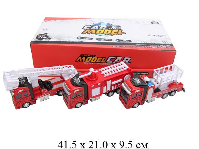 Машина пожарная металл.в диспл 4 вида 6699G