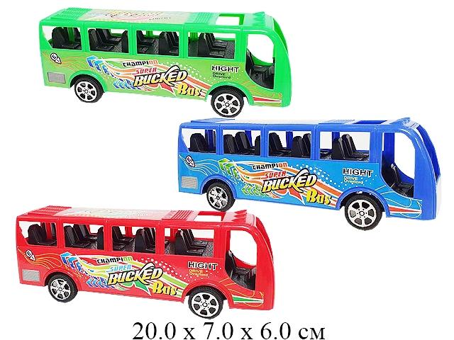 Автобус инерц. в блист. 3 цв 2885