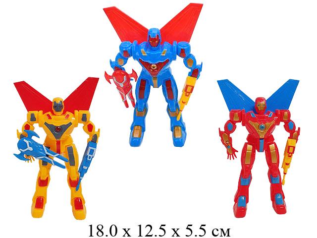 Трансформер-робот в пак. свет. M302-2
