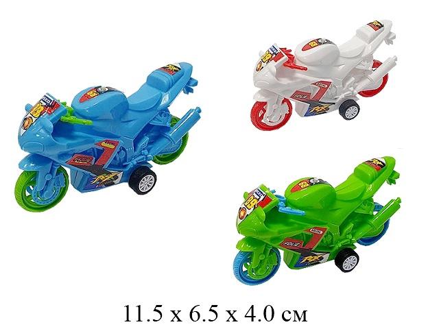 Мотоцикл  инерц.в пак. 3 цв. 698A-2