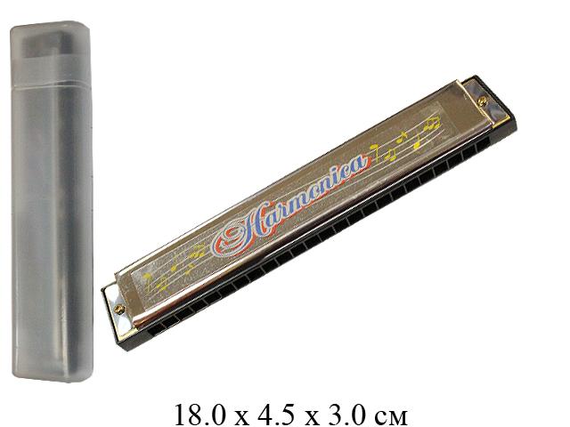 Губная гармошка в футляре 9824B
