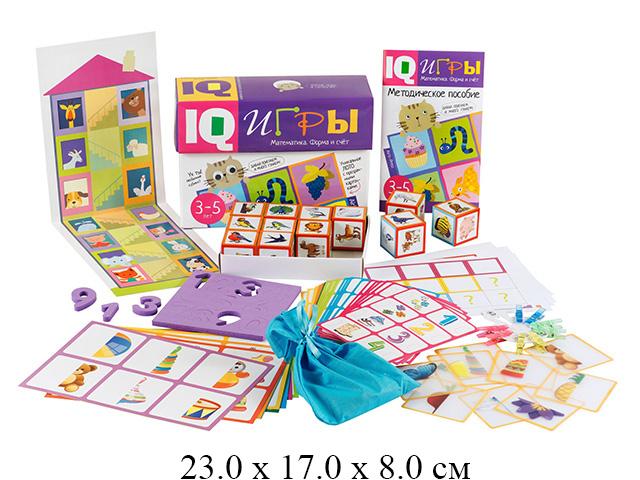 """Сундучок с  IQ играми. Математика. Форма и счет. 3-5 лет """"Айрис-пресс"""""""