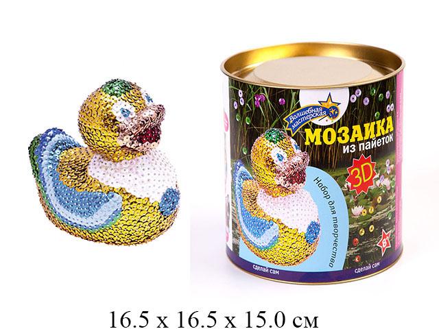 """Мозаика из пайеток 3D """"Утка"""" Волшебная Мастерская"""