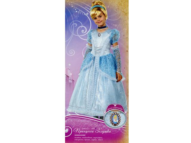 490 Карнав.костюм Принцесса Золушка р-р34 (зв. маскарад)
