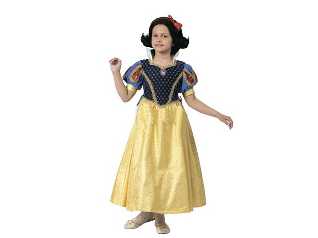 494 Карнав.костюм Принцесса Белоснежка р-р 34 (зв. маскарад)
