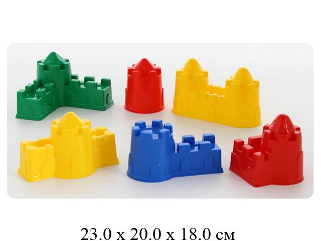 """Набор №543: формочки (замок мост + замок башня + замок стена с одной башней+замок """"Полесье"""""""