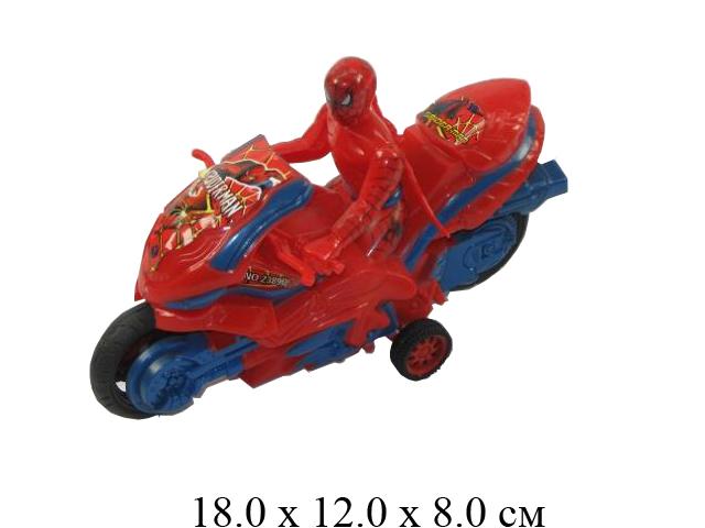 """Мотоцикл фрикц. с супергероем """"138"""" (2 вида) в пак. 2389B"""