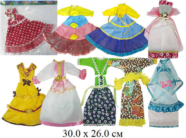 Платье для куклы в ассортим.