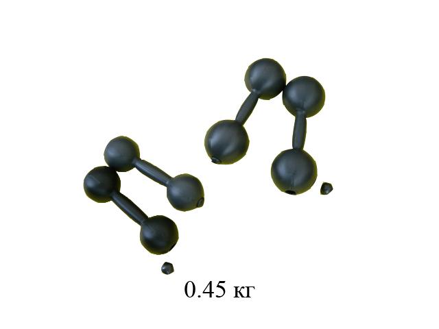 Гантели пластмасс.0,45 кг (2 шт.) с наполнителем в сетке (Совтехстром)