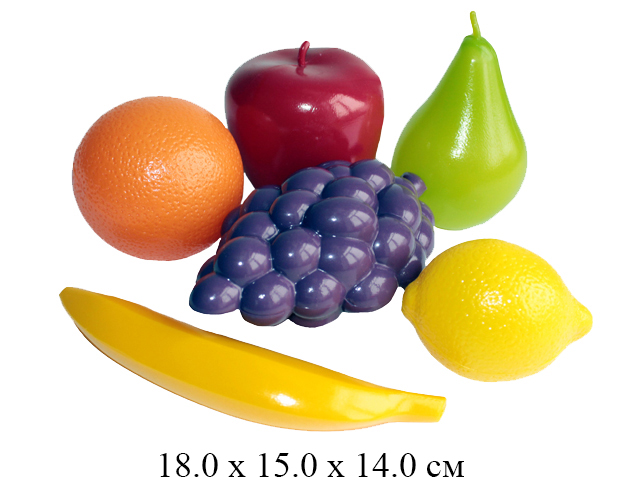 **Н/фрукты (виноград, лимон, банан, апельсин, груша, яблоко) в сетке (Совтехстром)