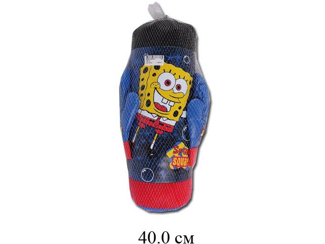 Груша боксерская + перчатки  (2 цвета) в сетке 786-10