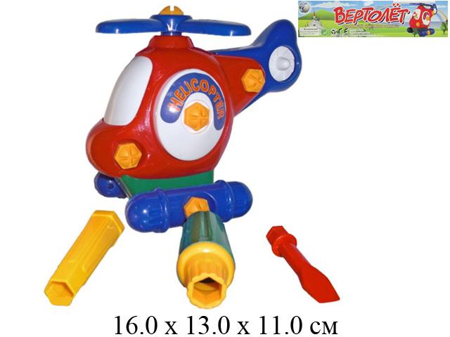 """Вертолет - конструктор 936  """"Малыш"""" с инструментом в пак. Tongde"""