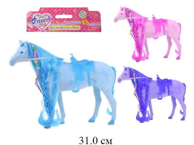 ***Лошадь* цветная 3 цвета 31см. в пак.Tai Cheong