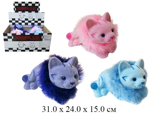 *Кошка с опушкой качающая головой в диспл. Tai Cheong