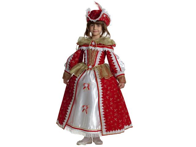 906 Карнавальный костюм Королева Мушкетеров р-р32