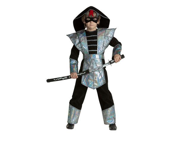 Карнавальный костюм Ниндзя Серебряный р-р36 Батик