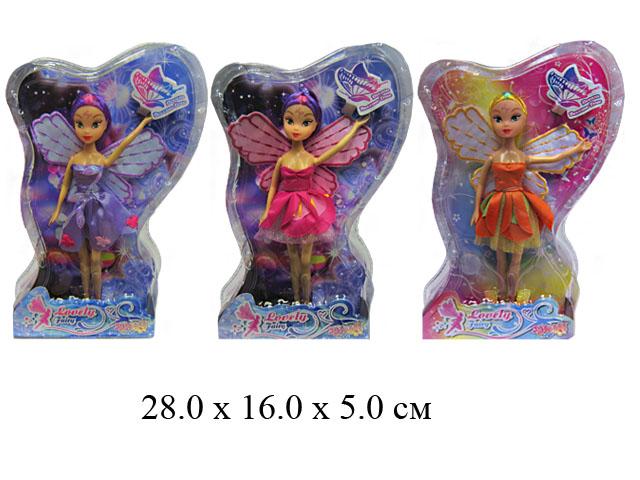 Кукла гнущ. с крыльями (3 вида) в блист.