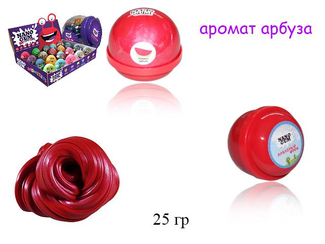 """Nano Gum (жвачка для рук) """"Арбузный фреш"""" 25 гр. с аромато арбуза в банке"""