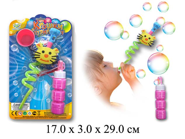 """Мыльные пузыри """"Крошки - пузырешки""""  (трубочка с котом) на карт."""