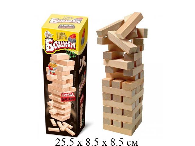"""Игра для детей и взрослых """"Царь Башня"""" (падающая башня) """"Десятое королевство"""""""