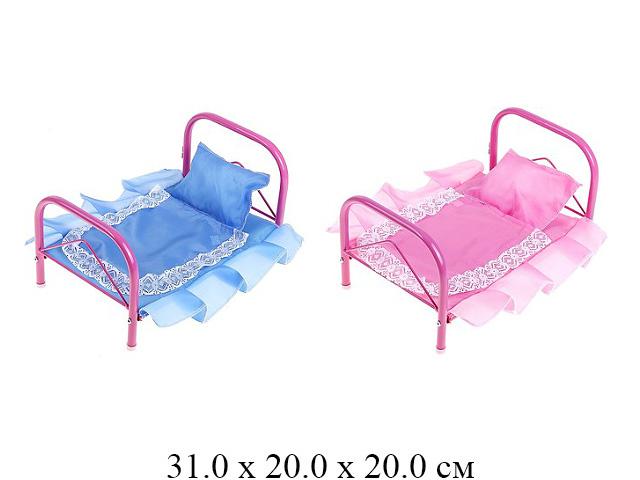 Кроватка для куклы металл. (№2) в кор. (ИП Ясюкевич)