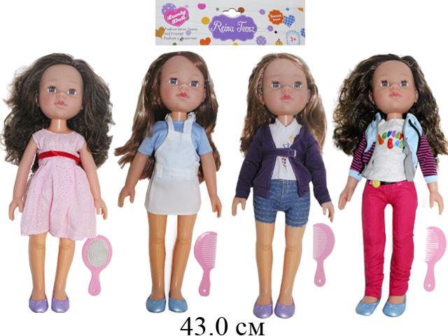Кукла + расческа Reina Teenz (4 вида) в пак.