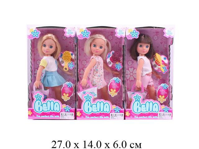 *Кукла Bella + расческа (3 вида) в кор.