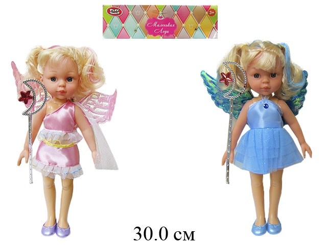 Кукла с крыльями + волш. палочка (3 вида) в пак.  Play Smart