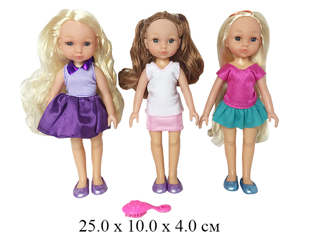 Кукла + расческа Baby Reina (3 вида) в пак.