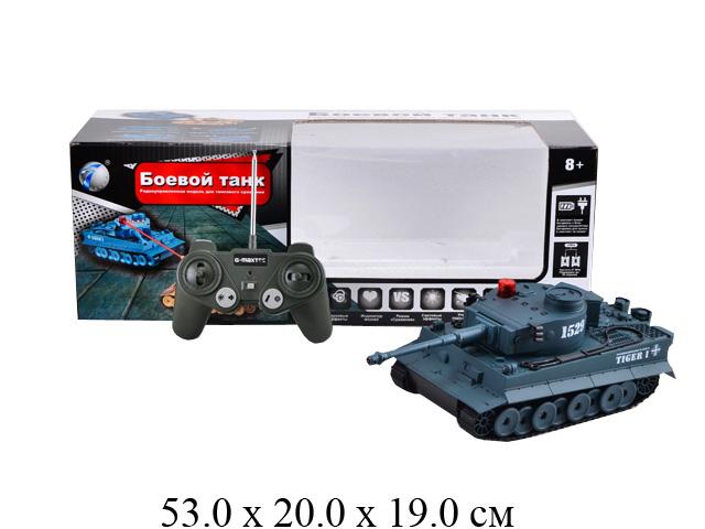 """Р/у танк  """"Боевой танк"""" (свет, звук, поворачивает башню) (бат. ист. пит. + з/у) 1529 в кор. Tongde"""