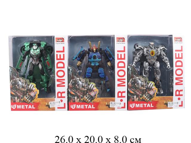 Трансформер - робот - машина металл. (3 вида) в кор