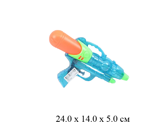 Пистолет водный  (3 цвета) в пак.