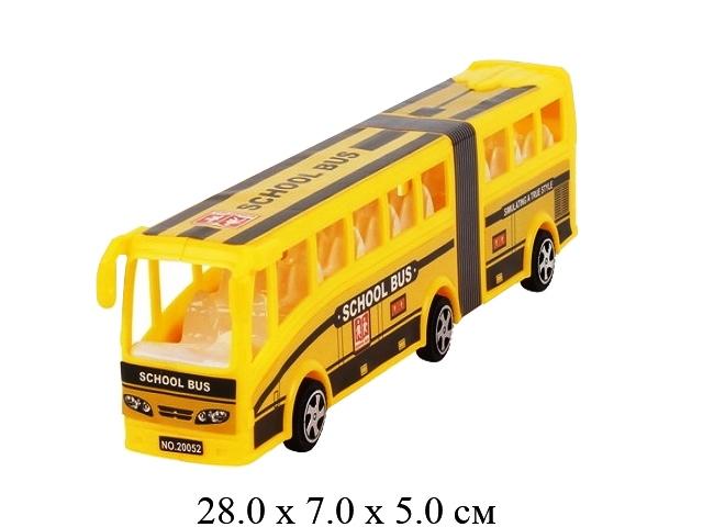 Автобус  инерц. в пак. 4 цв.20052