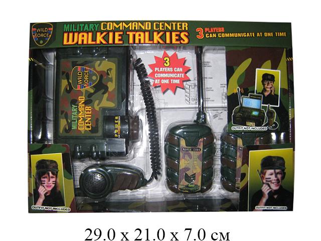 """Н/3 рации с базой на бат.военн.""""Walke Talkies"""" в кор."""