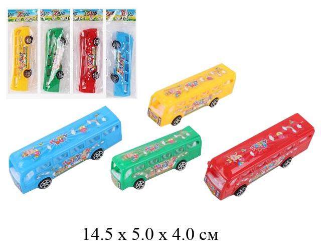 Автобус инерц. в пак. 4 цв.