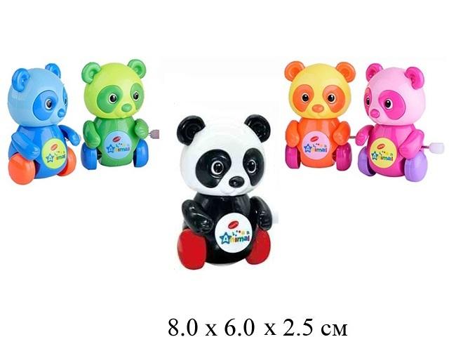Игрушка в пак.для малышей - медвеженок заводн.  в  пак. 5 цвет.0626A