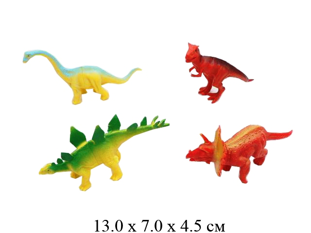 Динозавр в пак. 4 вида