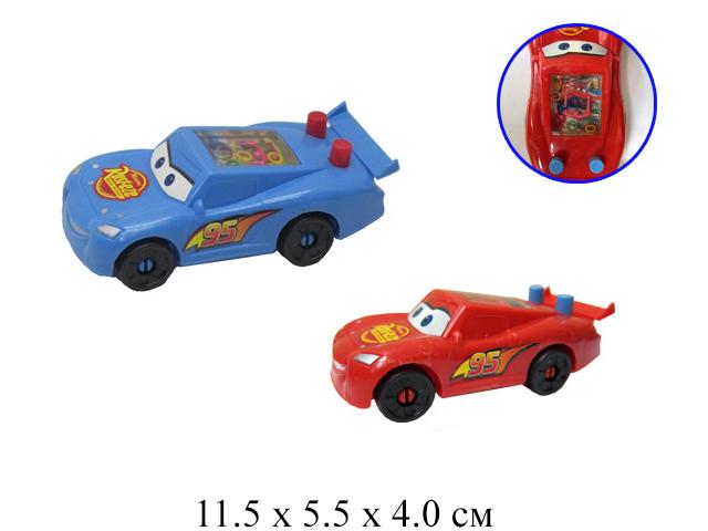 Машина  своб. кат. с водяной игрой (2 цвета) в пак.