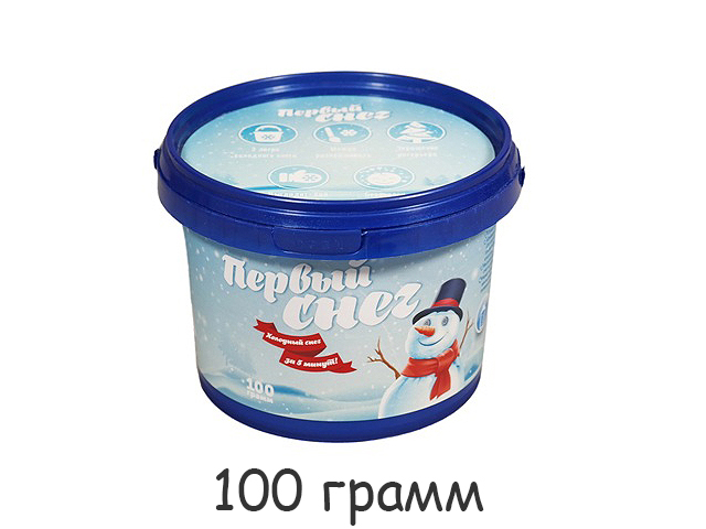 """Космический песок """"Первый снег"""" 100 г в банке"""