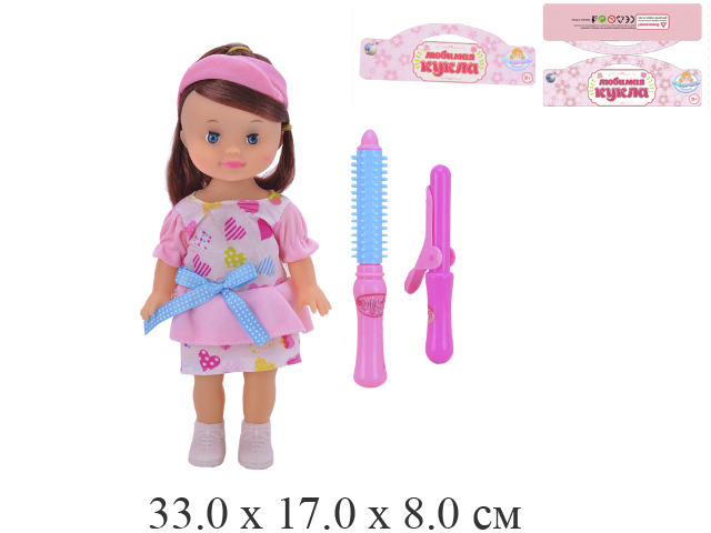 """Кукла """"Любимая кукла"""" + инструменты для завивки волос в пак. Tongde 8801-10P"""